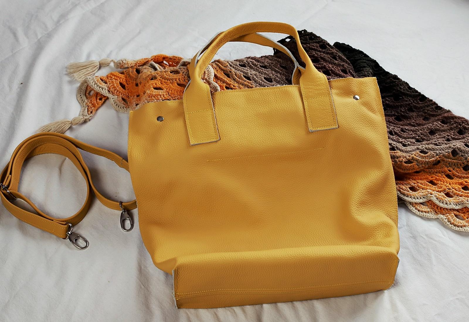 żółta torba Lola tył