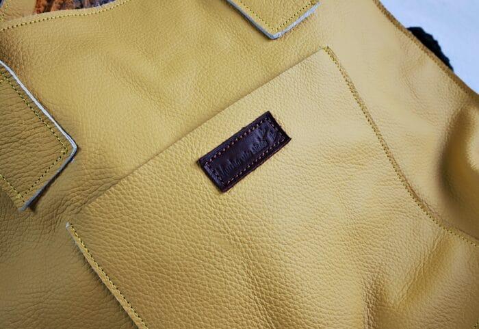żółta torba Lola detal