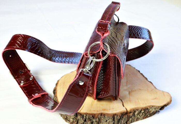 bordo kroko torebka twins bordo kroko