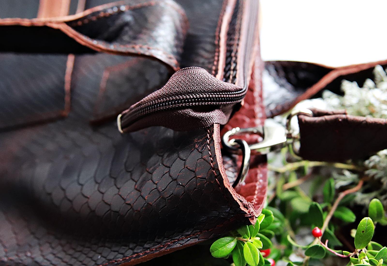 torebka lola ciemny braz kroko