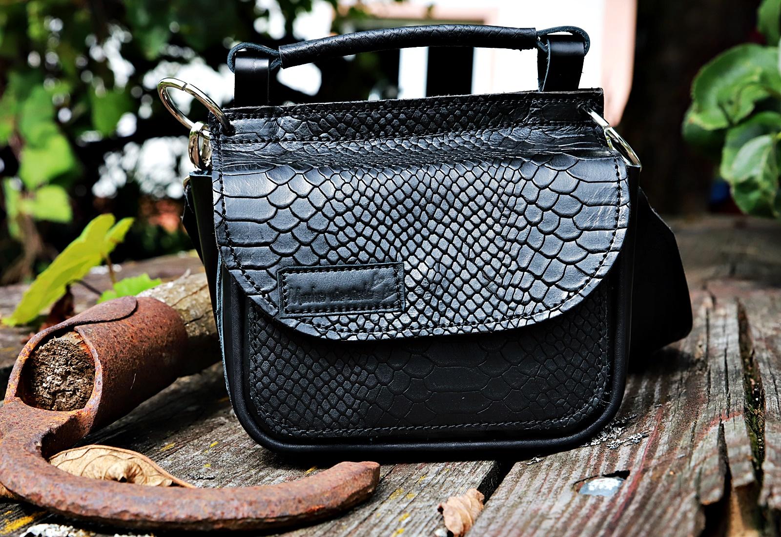 czarna torebka kroko
