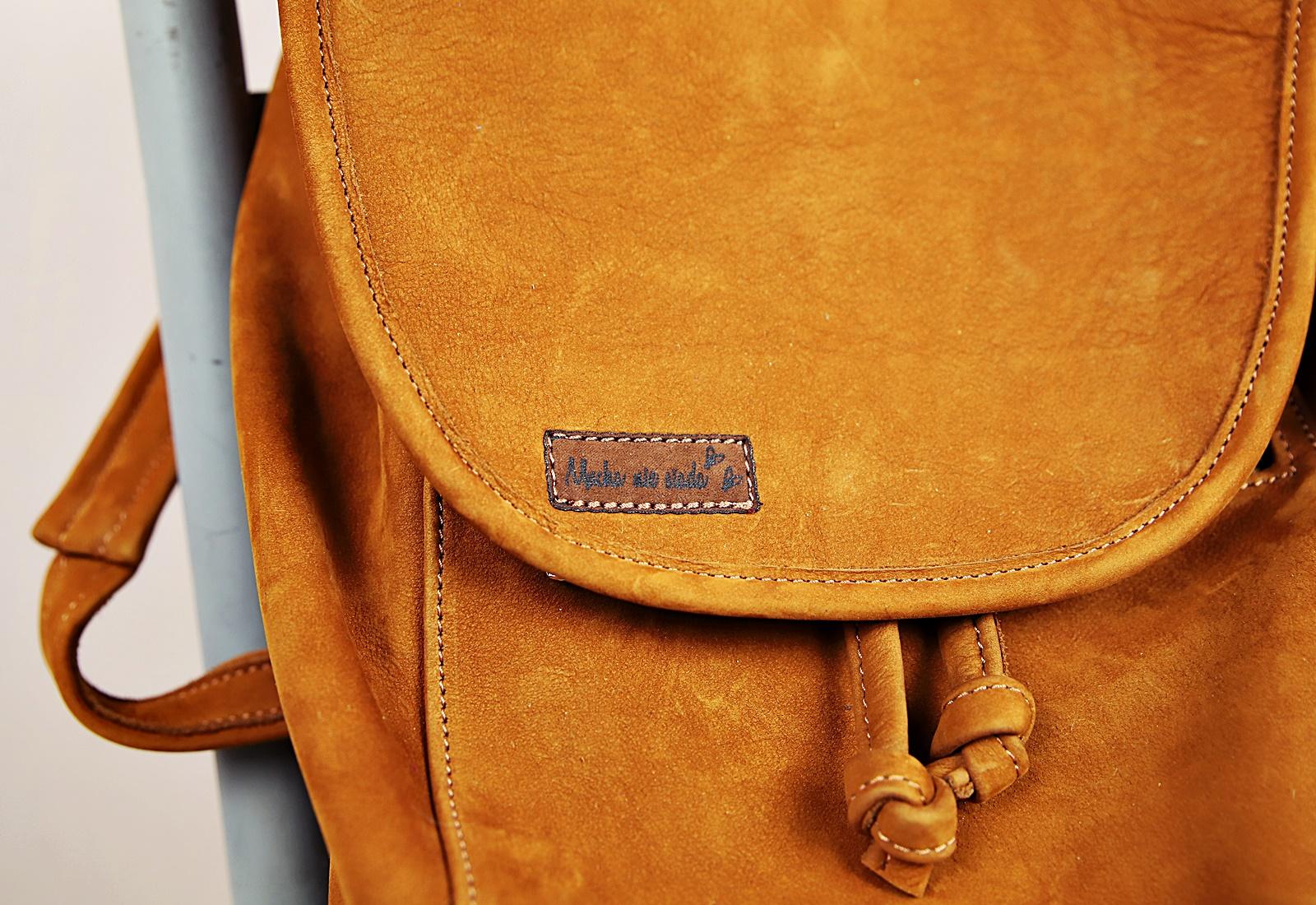 plecak skórzany ZINA rudawobrazowy